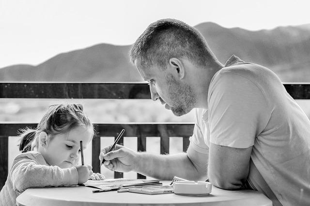 malování s dcerou