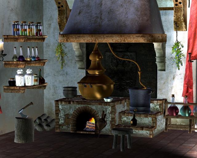 alchymie čarodějnice
