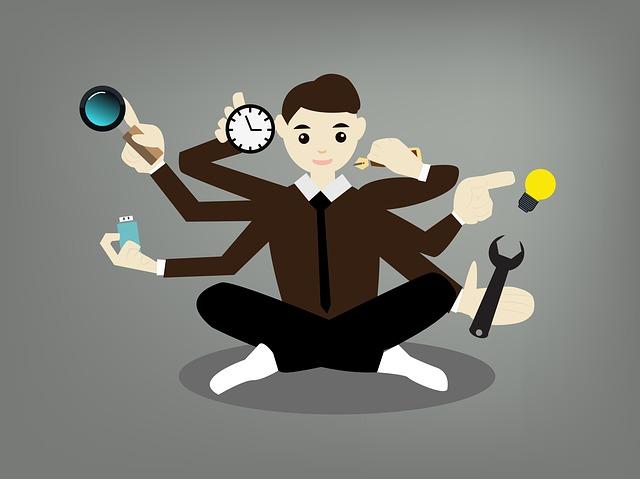 znázorněný multitasking